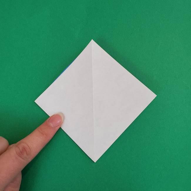 朝顔の折り紙 簡単で子供・幼児もつくれる作り方(7)