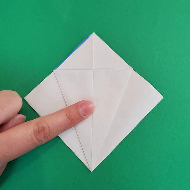 朝顔の折り紙 簡単で子供・幼児もつくれる作り方(8)