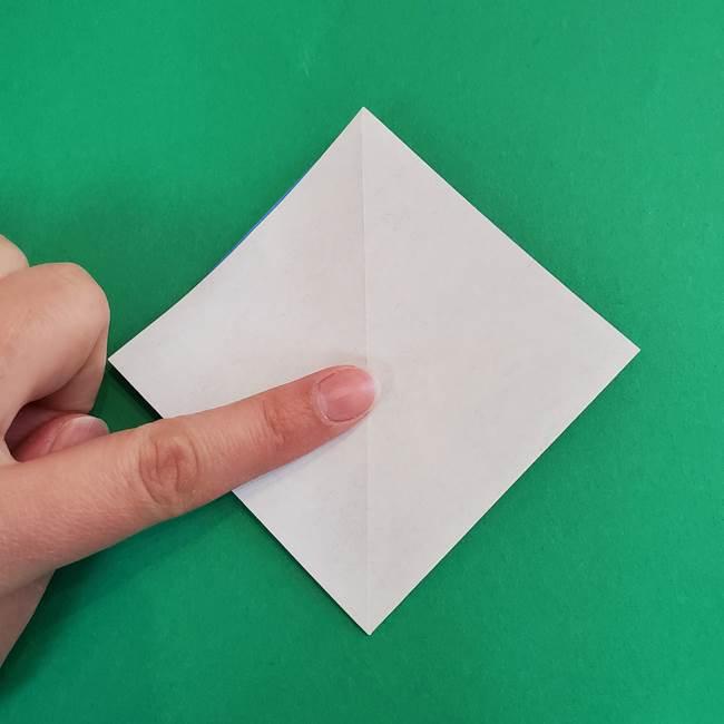 朝顔の折り紙 簡単で子供・幼児もつくれる作り方(9)