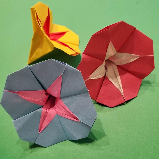 朝顔の折り紙 難しいけどおしゃれでかわいい!立体的でリアルな折り方作り方
