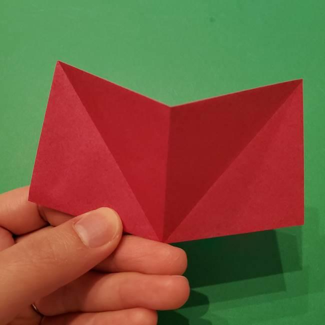 朝顔の折り紙 難しい立体的な折り方作り方(11)