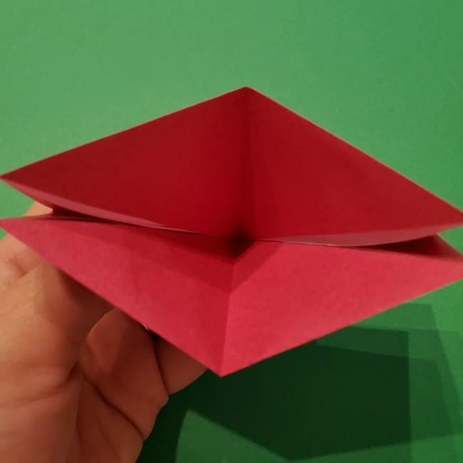 朝顔の折り紙 難しい立体的な折り方作り方(12)
