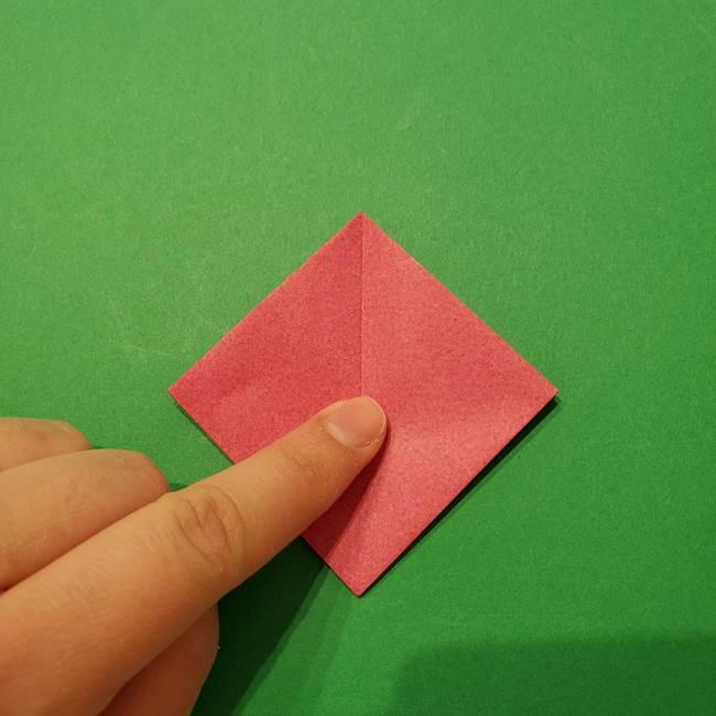朝顔の折り紙 難しい立体的な折り方作り方(15)