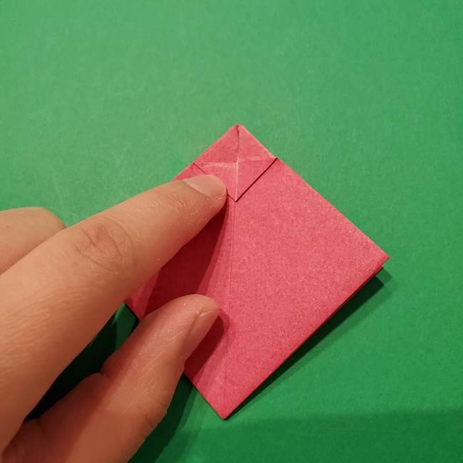 朝顔の折り紙 難しい立体的な折り方作り方(16)