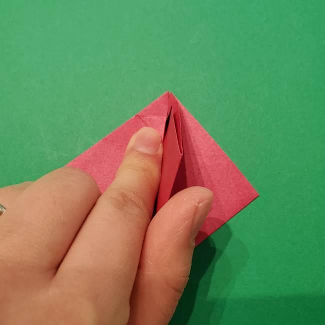 朝顔の折り紙 難しい立体的な折り方作り方(17)
