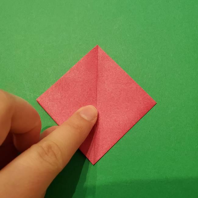 朝顔の折り紙 難しい立体的な折り方作り方(18)