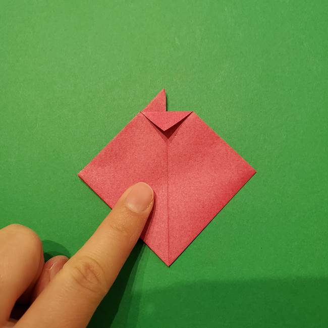 朝顔の折り紙 難しい立体的な折り方作り方(19)