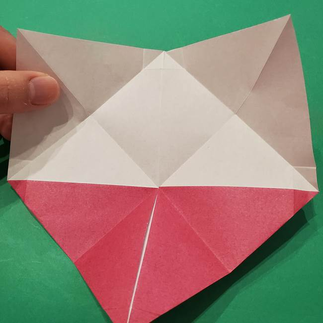 朝顔の折り紙 難しい立体的な折り方作り方(22)