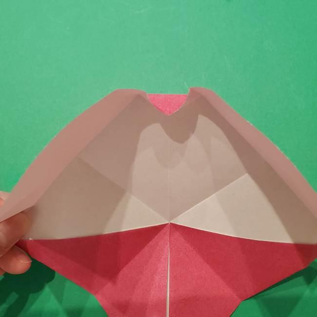 朝顔の折り紙 難しい立体的な折り方作り方(23)