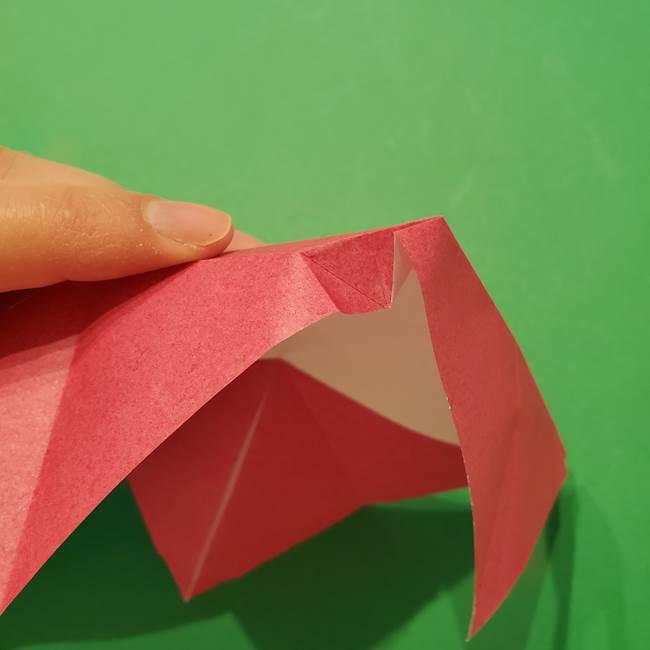 朝顔の折り紙 難しい立体的な折り方作り方(24)