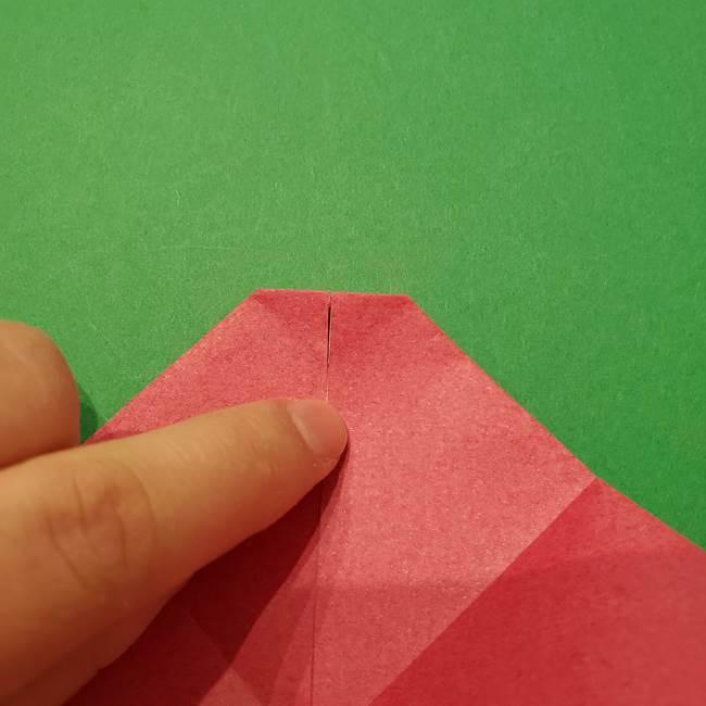 朝顔の折り紙 難しい立体的な折り方作り方(25)