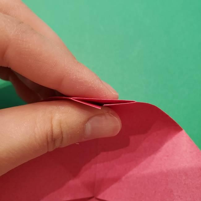 朝顔の折り紙 難しい立体的な折り方作り方(26)