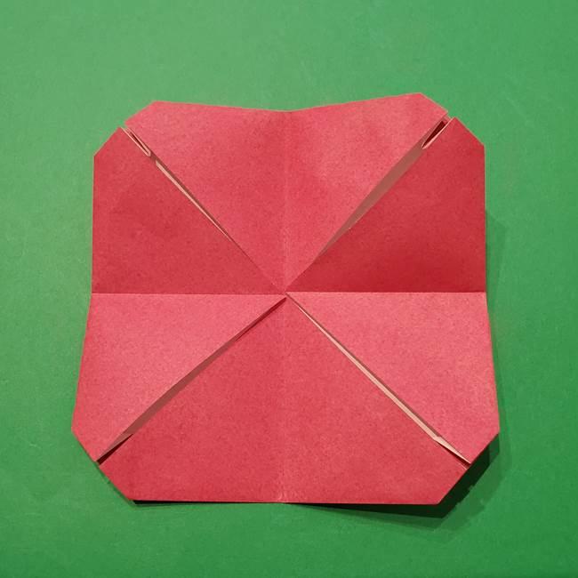 朝顔の折り紙 難しい立体的な折り方作り方(27)