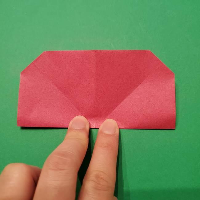 朝顔の折り紙 難しい立体的な折り方作り方(30)