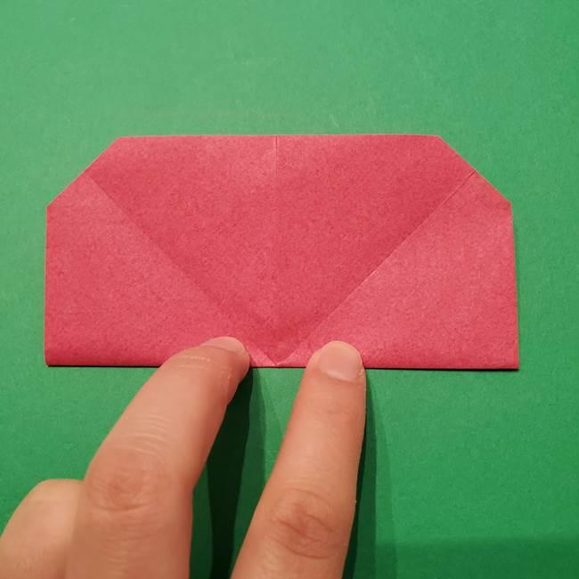 朝顔の折り紙 難しい立体的な折り方作り方(31)