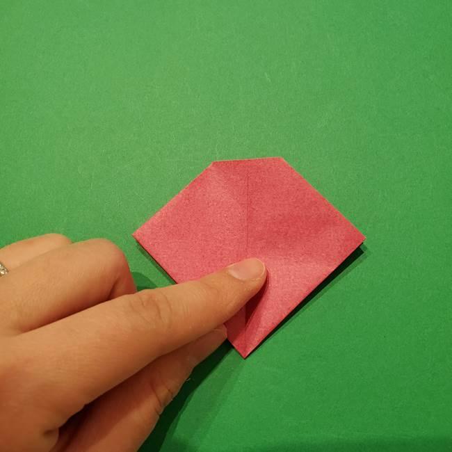朝顔の折り紙 難しい立体的な折り方作り方(35)