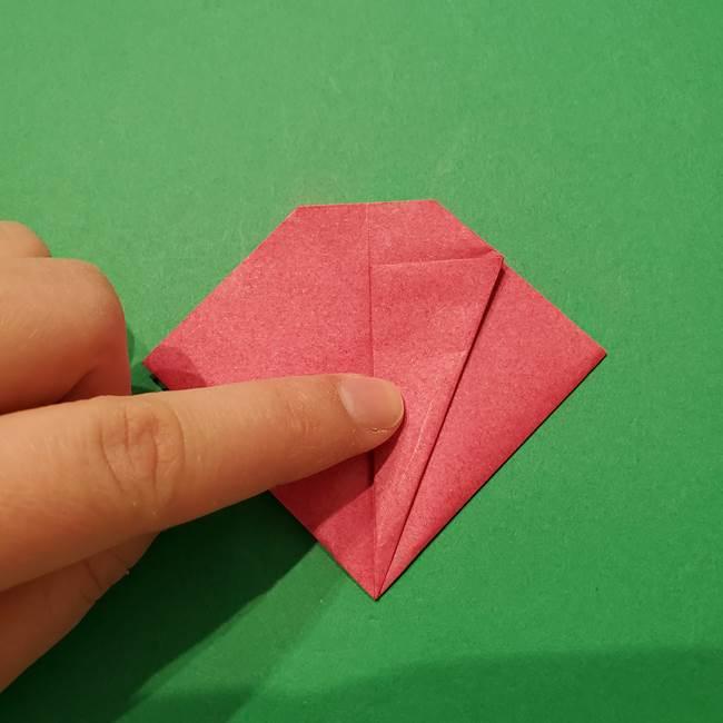 朝顔の折り紙 難しい立体的な折り方作り方(36)