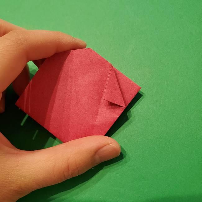 朝顔の折り紙 難しい立体的な折り方作り方(38)