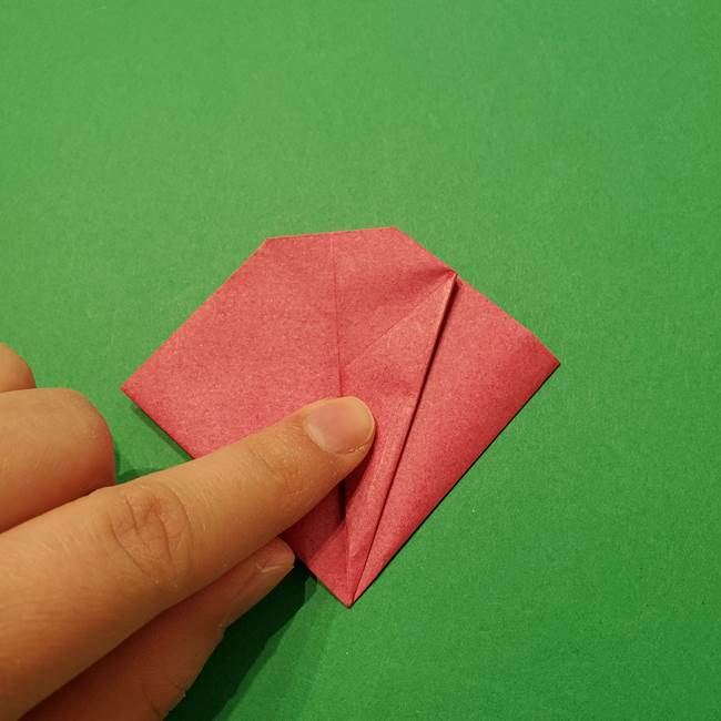朝顔の折り紙 難しい立体的な折り方作り方(39)