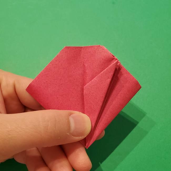 朝顔の折り紙 難しい立体的な折り方作り方(41)