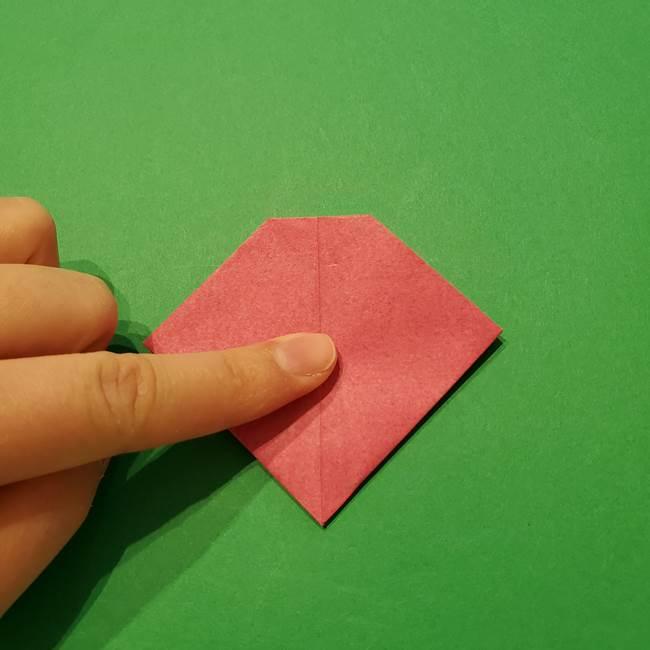 朝顔の折り紙 難しい立体的な折り方作り方(42)