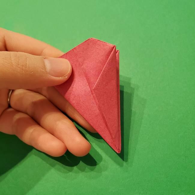 朝顔の折り紙 難しい立体的な折り方作り方(43)