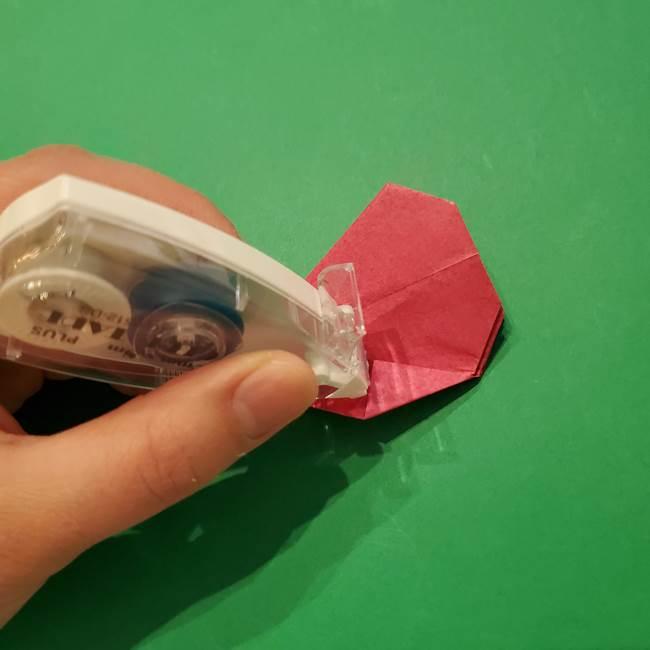 朝顔の折り紙 難しい立体的な折り方作り方(44)