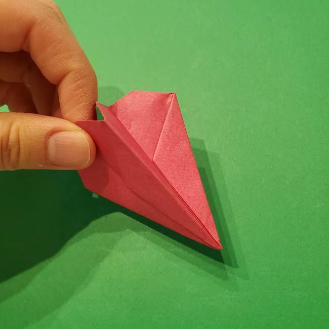 朝顔の折り紙 難しい立体的な折り方作り方(45)