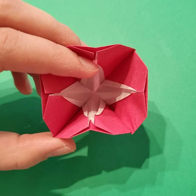 朝顔の折り紙 難しい立体的な折り方作り方(46)