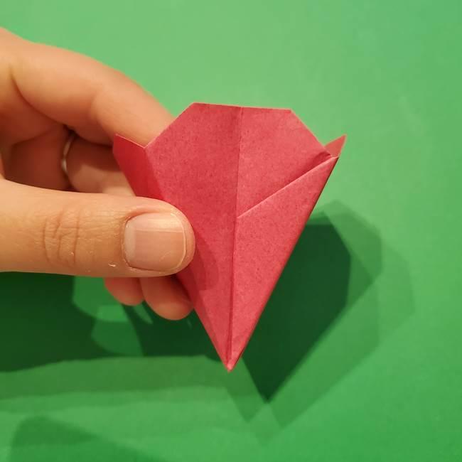 朝顔の折り紙 難しい立体的な折り方作り方(47)