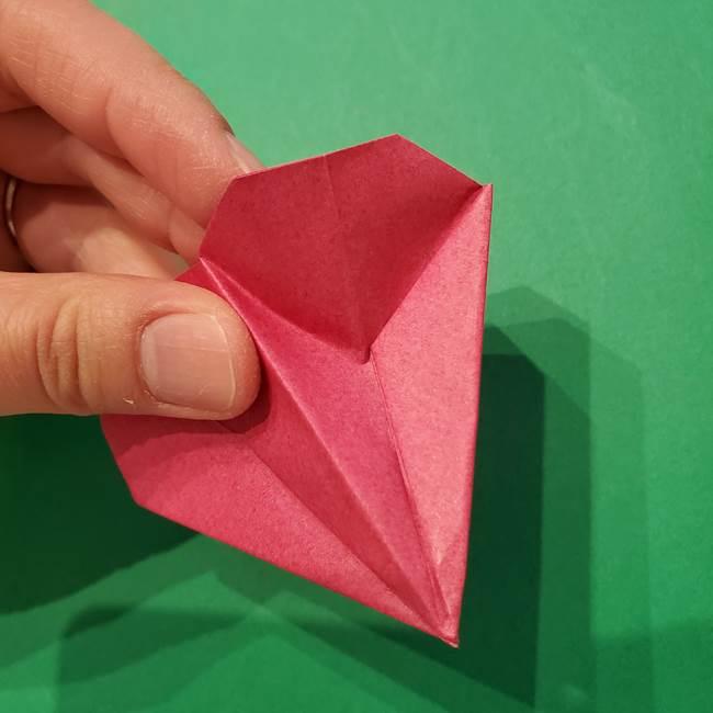 朝顔の折り紙 難しい立体的な折り方作り方(48)