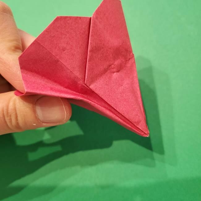 朝顔の折り紙 難しい立体的な折り方作り方(49)