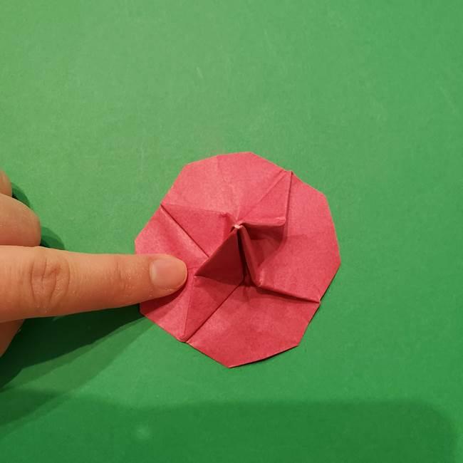 朝顔の折り紙 難しい立体的な折り方作り方(51)