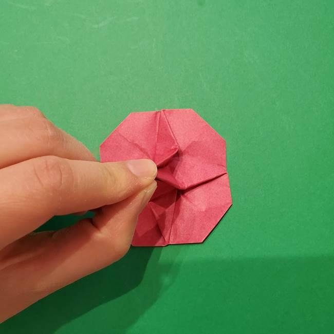 朝顔の折り紙 難しい立体的な折り方作り方(52)