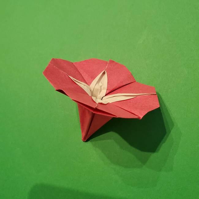 朝顔の折り紙 難しい立体的な折り方作り方(53)
