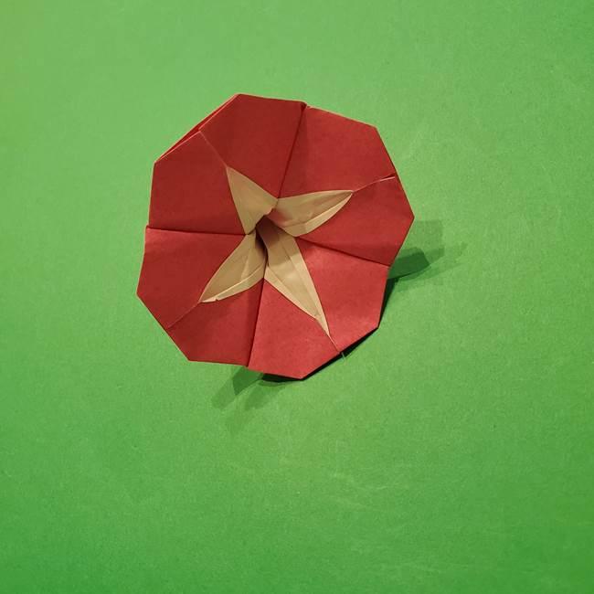 朝顔の折り紙 難しい立体的な折り方作り方(54)