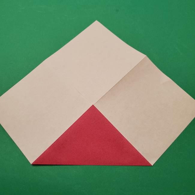 朝顔の折り紙 難しい立体的な折り方作り方(6)