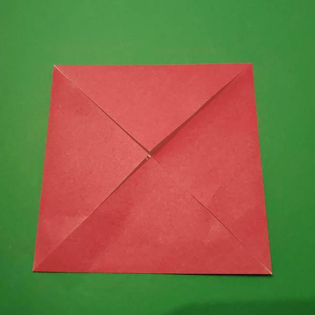 朝顔の折り紙 難しい立体的な折り方作り方(7)