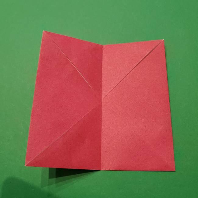 朝顔の折り紙 難しい立体的な折り方作り方(9)