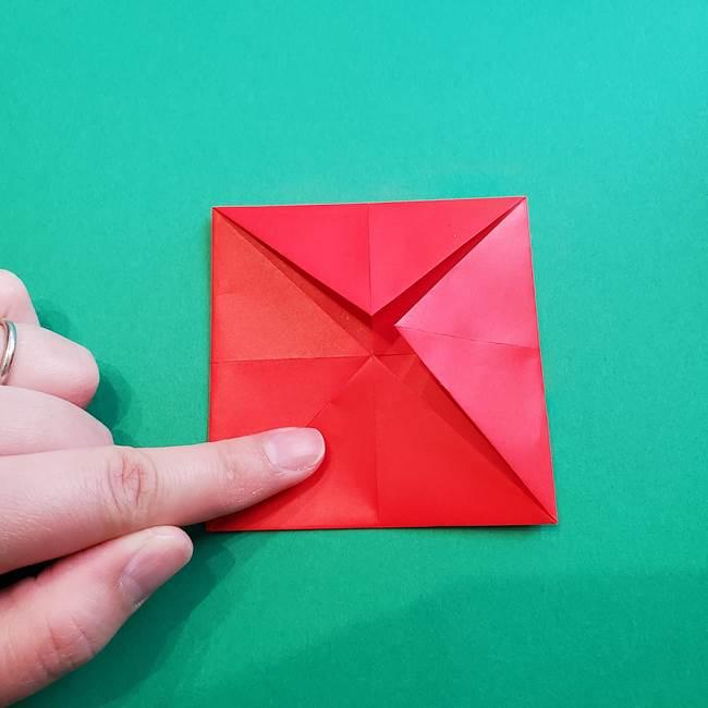 母の日の折り紙 バラの簡単な折り方作り方(10)