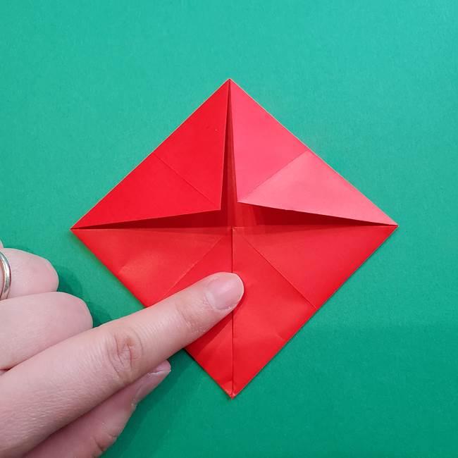 母の日の折り紙 バラの簡単な折り方作り方(11)