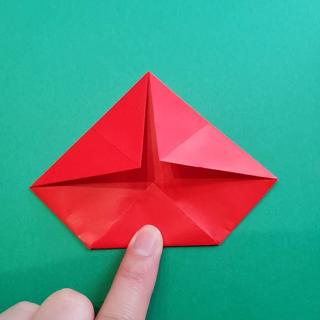 母の日の折り紙 バラの簡単な折り方作り方(12)