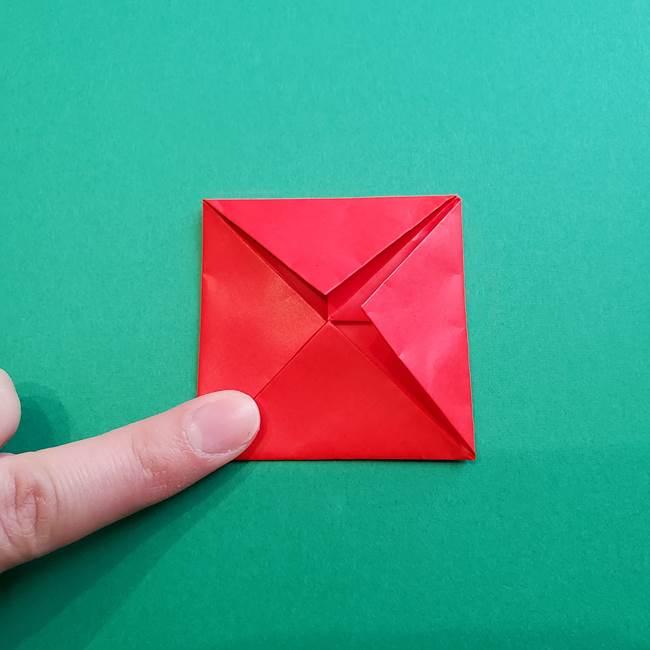 母の日の折り紙 バラの簡単な折り方作り方(13)
