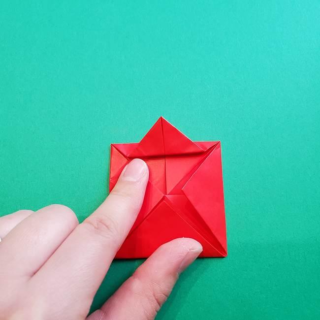 母の日の折り紙 バラの簡単な折り方作り方(14)