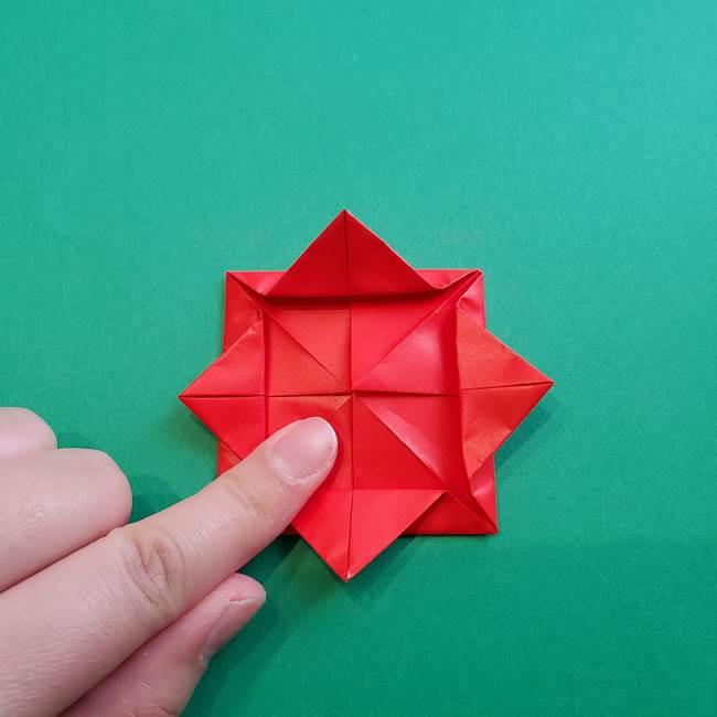母の日の折り紙 バラの簡単な折り方作り方(15)