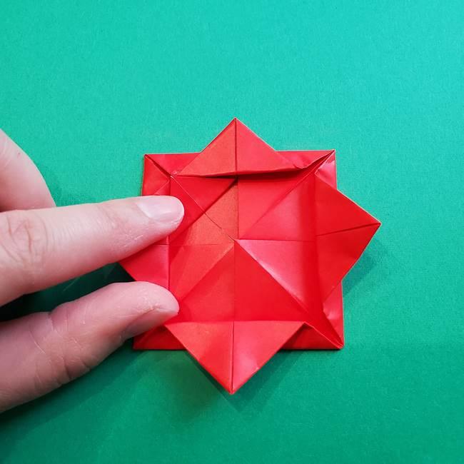 母の日の折り紙 バラの簡単な折り方作り方(16)