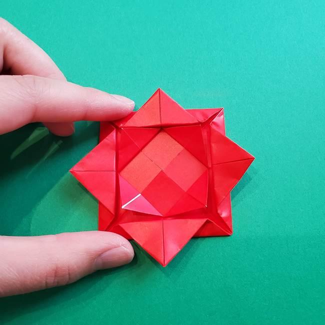母の日の折り紙 バラの簡単な折り方作り方(17)