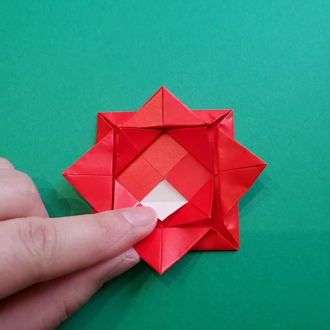 母の日の折り紙 バラの簡単な折り方作り方(18)