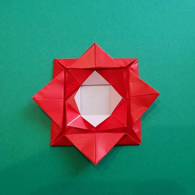 母の日の折り紙 バラの簡単な折り方作り方(19)