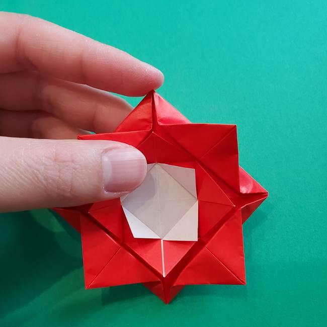 母の日の折り紙 バラの簡単な折り方作り方(20)